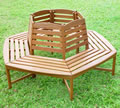 Hardwood Circular Tree Bench Seat
