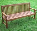 Hardwood Duffield 3 Seater Garden Bench