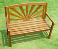 Hardwood Sunrise 2 Seater Garden Bench
