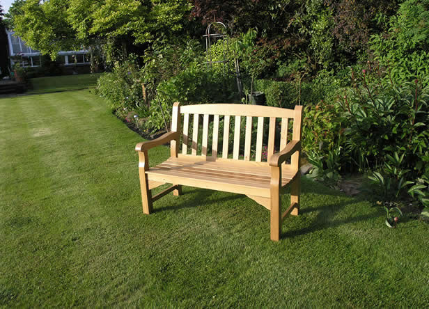 Heritage Oak 2 Seater Garden Bench 163 235 Garden4less Uk