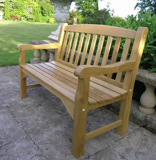 Heritage Oak 2 Seater Garden Bench 163 235 00 Garden4less Uk