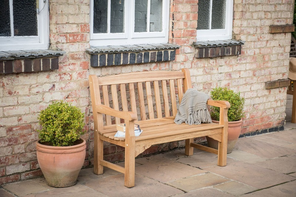 Heritage oak 4ft garden bench 2 seater 309 for Gardening 4 less reviews