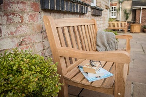 Extra image of Heritage Oak 4ft Garden Bench - 2 Seater