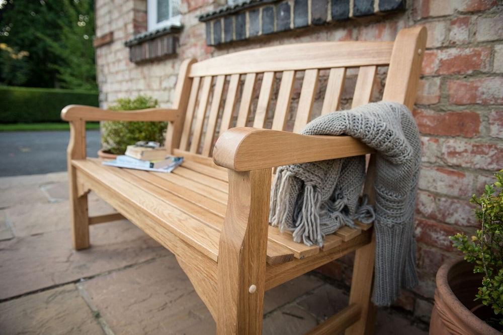 Heritage Oak 4ft Garden Bench 2 Seater 163 302 25
