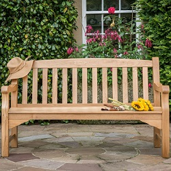 Extra image of Heritage Oak 5ft Garden Bench - 3 Seater