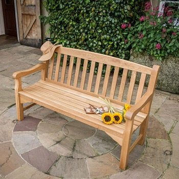 Heritage Oak 5ft Garden Bench 3 Seater 163 338