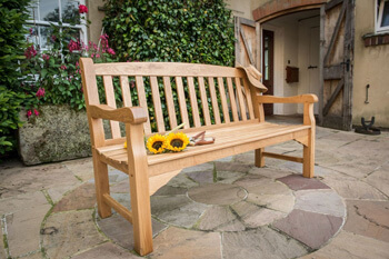 Image of Heritage Oak 5ft Garden Bench - 3 Seater