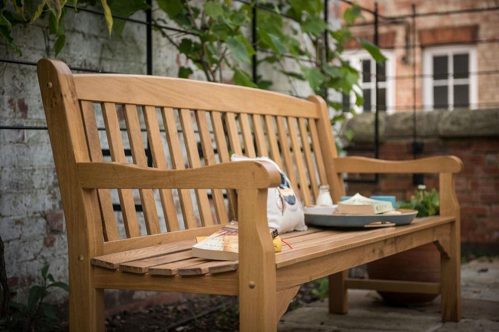 Heritage Oak 6ft Garden Bench 4 Seater 163 368 Garden4less Uk Shop