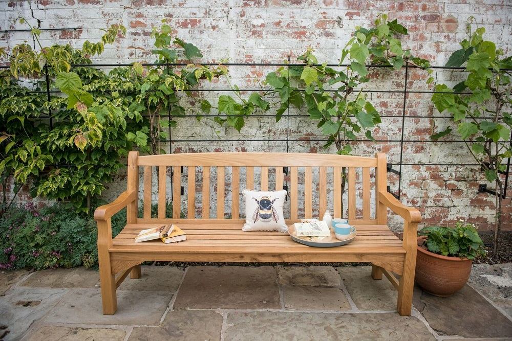 Heritage oak 6ft garden bench 4 seater 359 for Gardening 4 less reviews