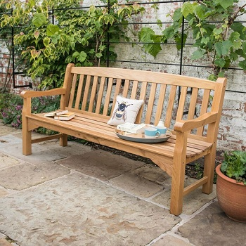 Image of Heritage Oak 6ft Garden Bench - 4 Seater
