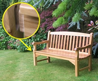 Oak bench Mortice and tenon joint