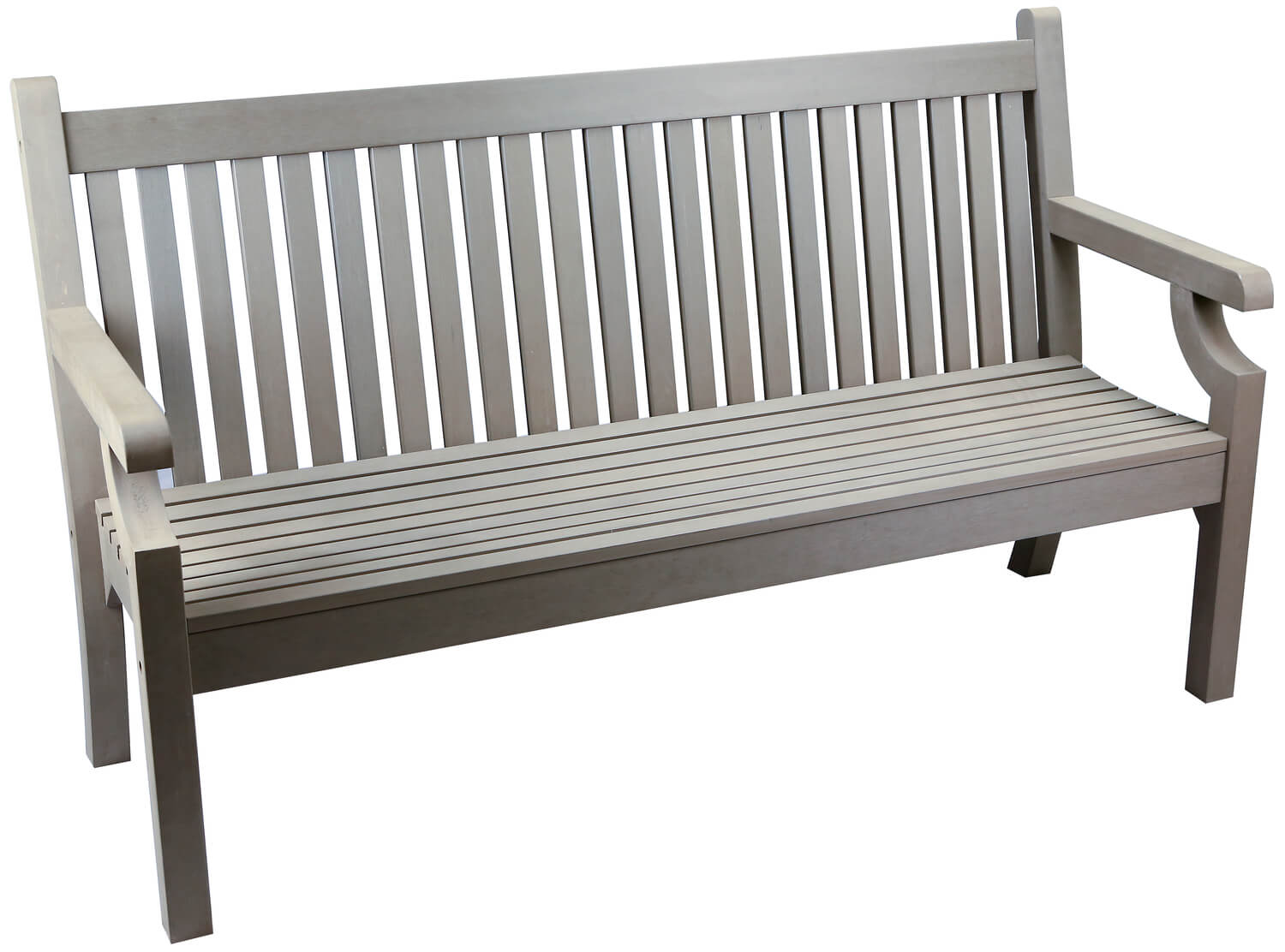Sandwick Winawood 3 Seater Wood Effect Garden Bench Grey