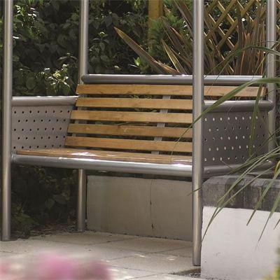 Monaco Aluminium Bench With Roof 163 249 Garden4less Uk Shop