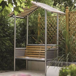 Small Image of Monaco Aluminium Bench with Roof