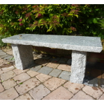 Rustic Straight Grey Granite Garden Bench