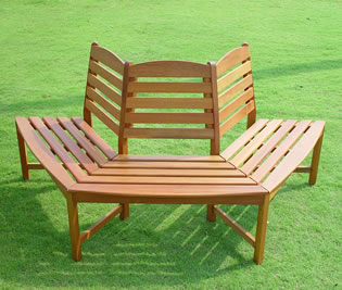 Hardwood semi circular tree bench seat garden4less uk shop Circular tree bench