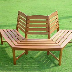 Hardwood Semi Circular Tree Bench Seat 163 139 99
