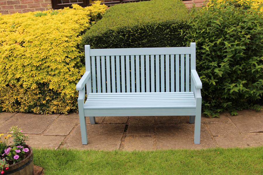 Magnificent Sandwick Winawood 3 Seater Wood Effect Garden Bench Powder Blue Unemploymentrelief Wooden Chair Designs For Living Room Unemploymentrelieforg