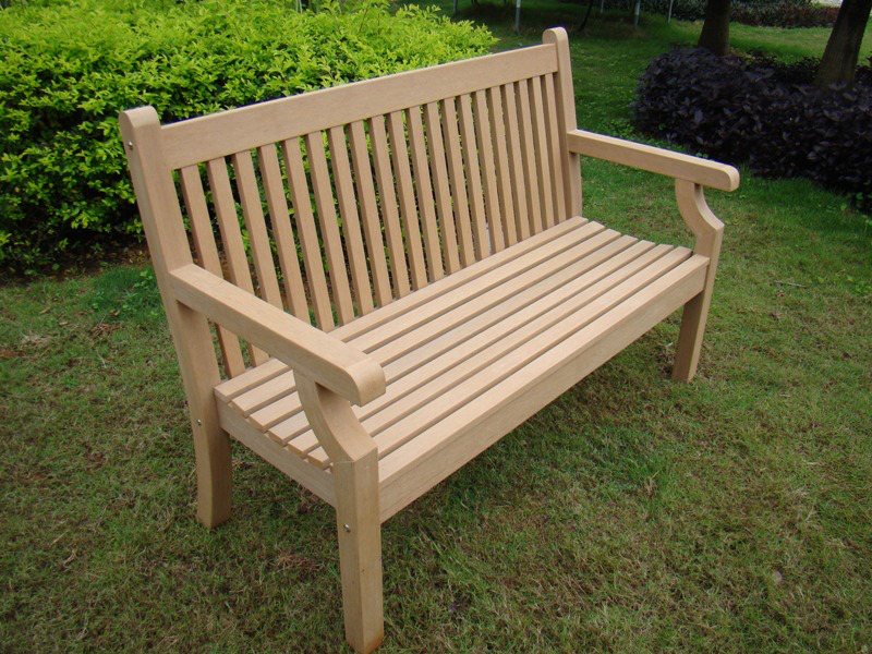 Image of Sandwick Winawood 3 Seater Wood Effect Garden Bench - Teak Finish