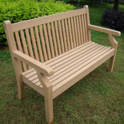 Image of Sandwick Winawood 2 Seater Wood Effect Garden Bench - Teak Finish