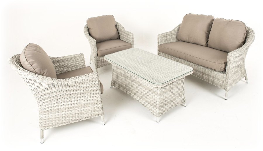 Product Description. Cotswold Rattan Weave Lounge Furniture and Table Set    589
