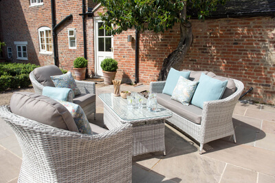 Image of Cotswold Rattan Weave Lounge Furniture and Table Set
