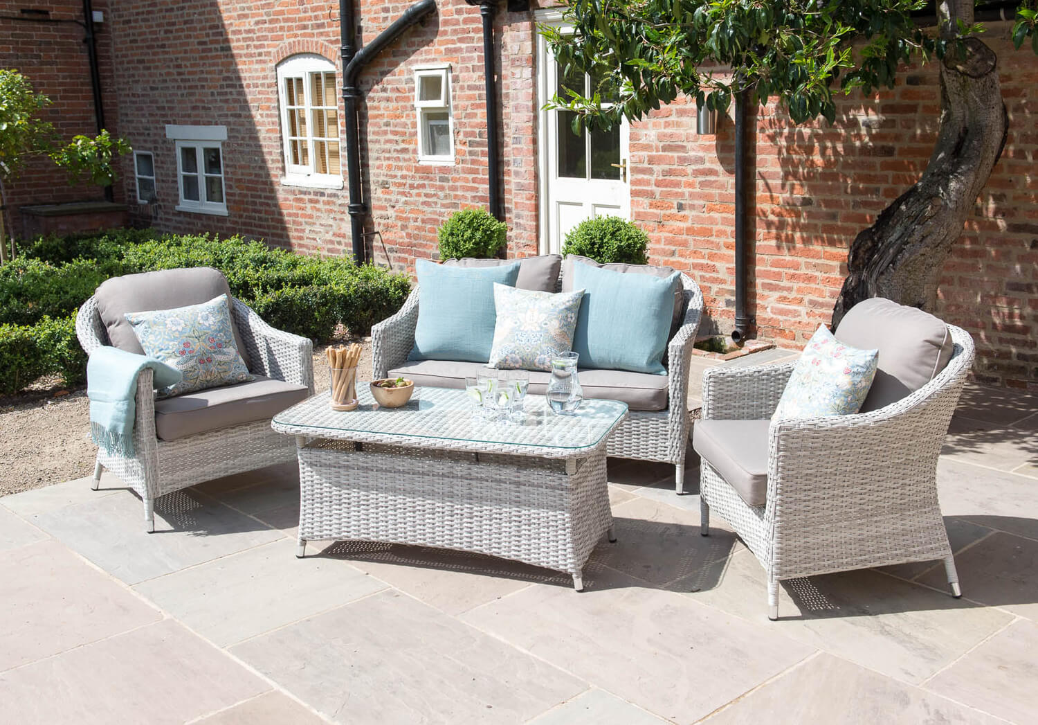 Black Friday Event. Cotswold Rattan Weave Lounge Furniture and Table Set    664 05