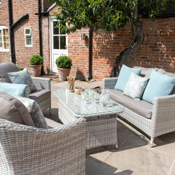 Small Image of Cotswold Rattan Weave Lounge Furniture and Table Set