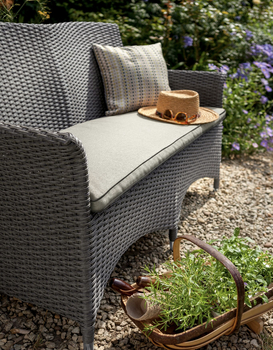 Extra image of Appleton Weave 2 Seater Garden Bench by Hartman Slate