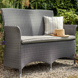 Small Image of Appleton Weave 2 Seater Garden Bench by Hartman Slate