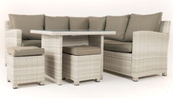 Extra image of Baby Finley Corner Sofa Dining Set and Stools