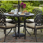 Berkeley 4 Seater Round Dining Set - Bronze/Dune