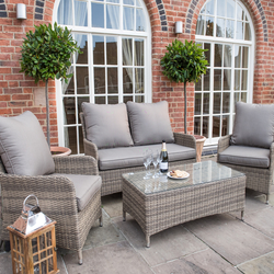 Small Image of Norfolk Leisure Handpicked Belize 4 Seater Lounge Set in Cappuccino