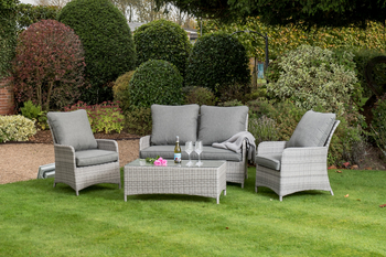 Image of Manhattan Rattan Weave Sofa Lounge Set in Harbour Grey
