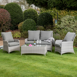 Small Image of Manhattan Rattan Weave Sofa Lounge Set in Harbour Grey