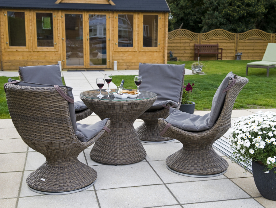 outdoor rattan weave bistro furniture set 1399 garden4less uk