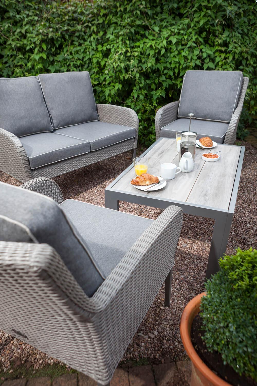Atlanta ceramic fibreline lounge furniture set in platinum for Outdoor furniture atlanta