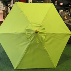 Small Image of Lime Green Hardwood Garden Parasol - 200cm