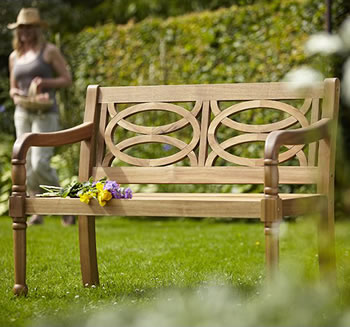 Image of Cleobury 2 Seater FSC Garden Bench from Hartman