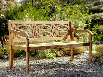 Image of Cleobury 3 Seater FSC Garden Bench from Hartman - COLLECTION ONLY