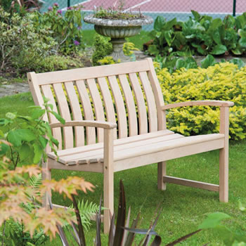 Image of Roble Bella Vista Low Back 4ft FSC Garden Bench from Alexander Rose