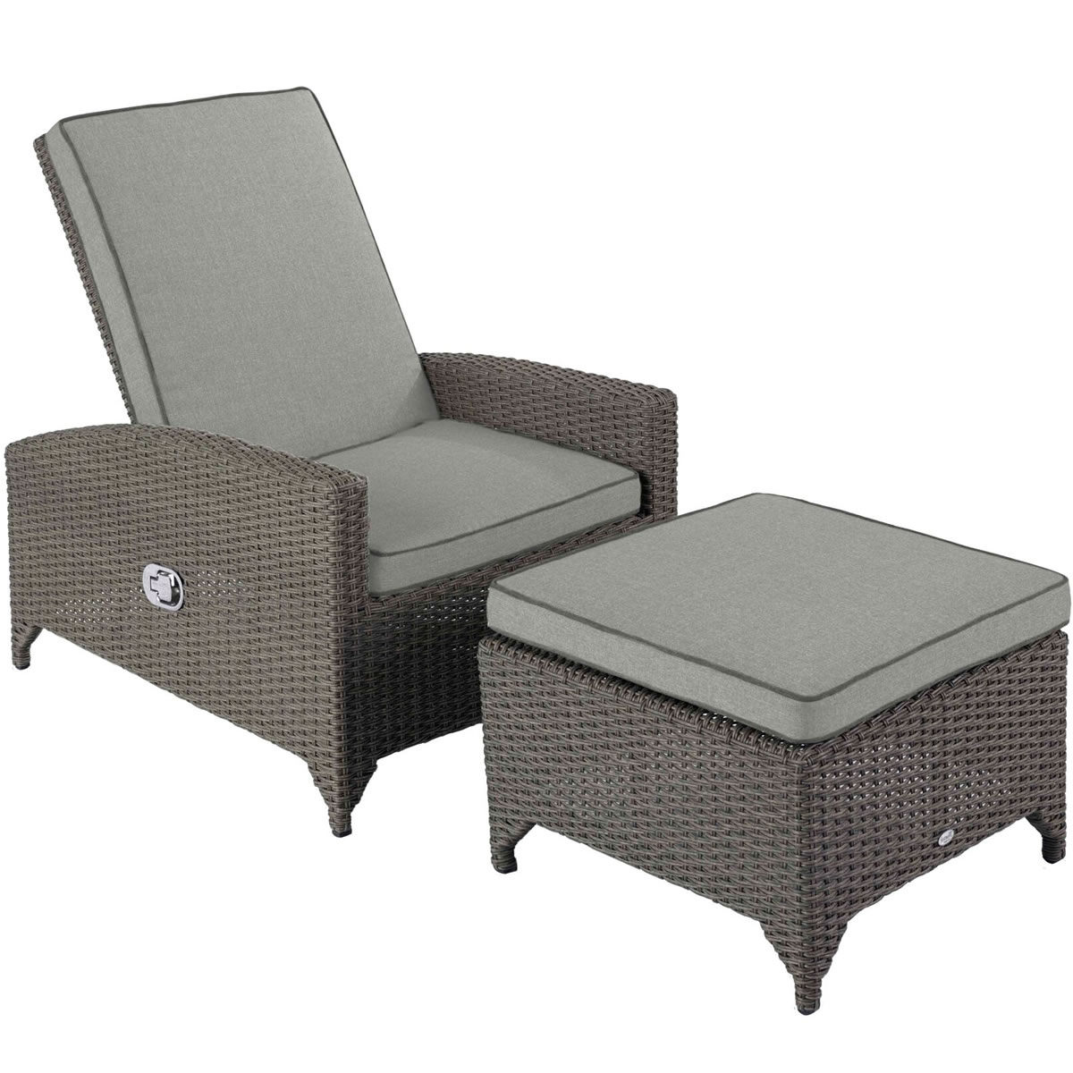 Hartman Madison Weave Recliner Chair With Footstool In