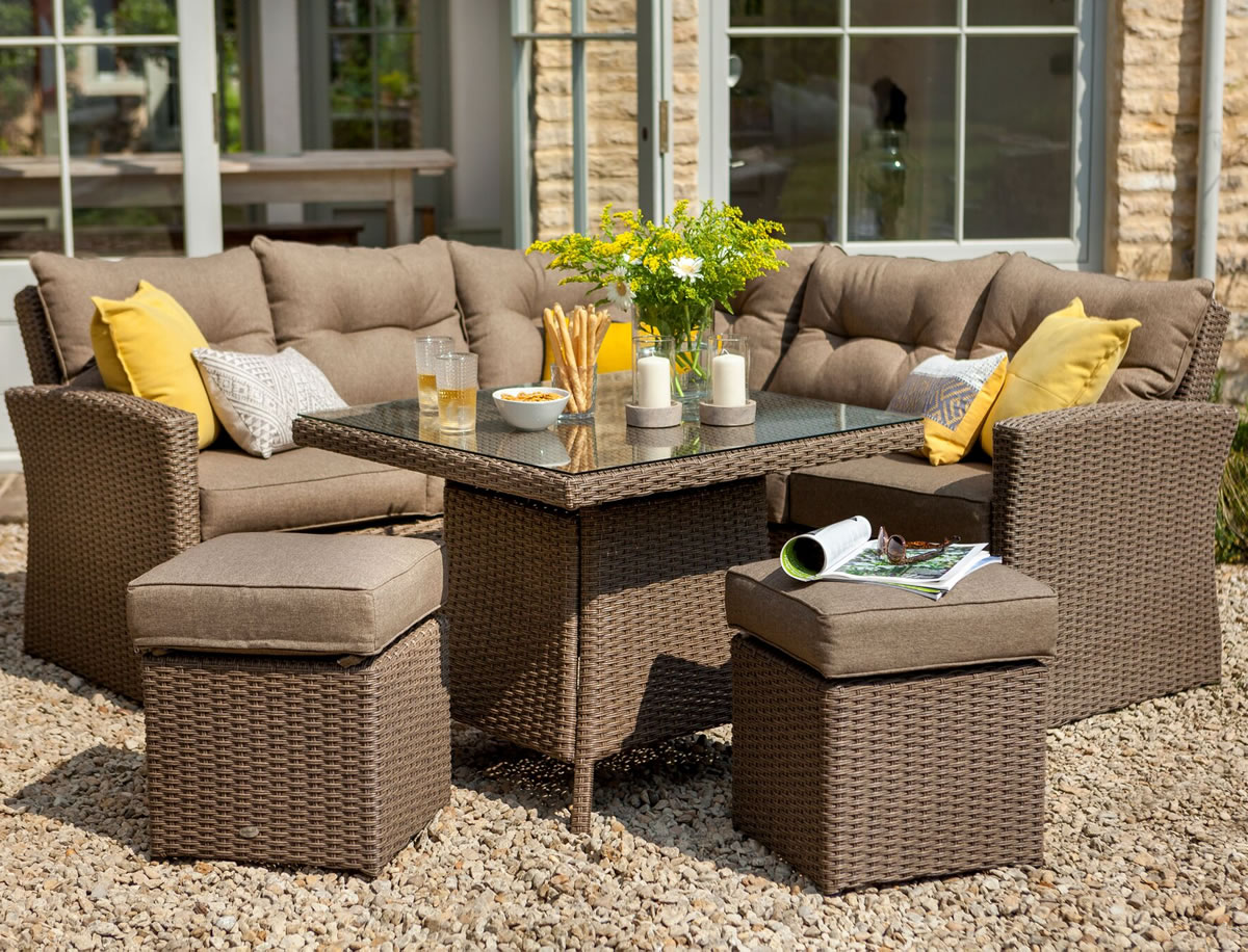 Hartman madison square casual dining set in sepia henna for Gardening 4 less reviews