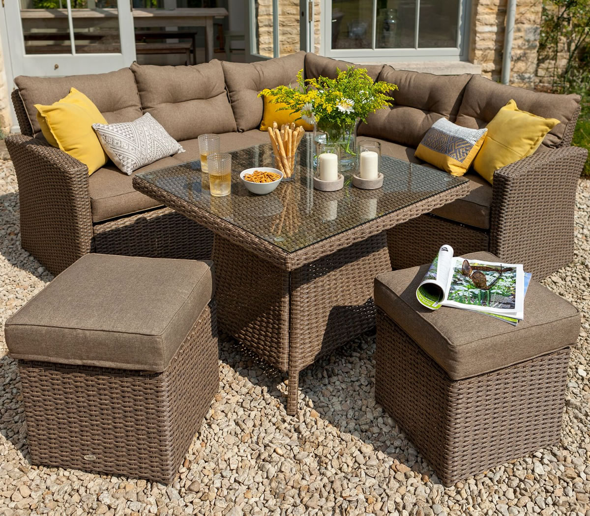 Hartman Madison Square Casual Dining Set In Sepia Henna Garden4less Uk Shop