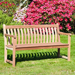 Small Image of Mahogany Broadfield 5ft FSC Garden Bench from Alexander Rose
