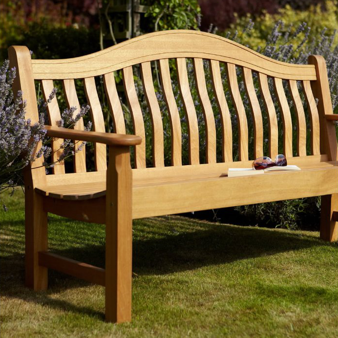Norbury 3 seater hardwood garden bench from hartman 246 for Gardening 4 less reviews