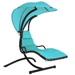 Small Image of Peardrop Swinging Dream Chair Blue