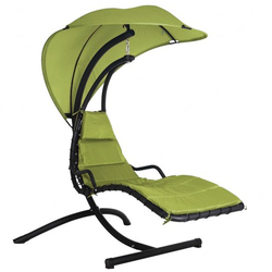 Small Image of Peardrop Swinging Dream Chair Lime Green - COLLECTION ONLY