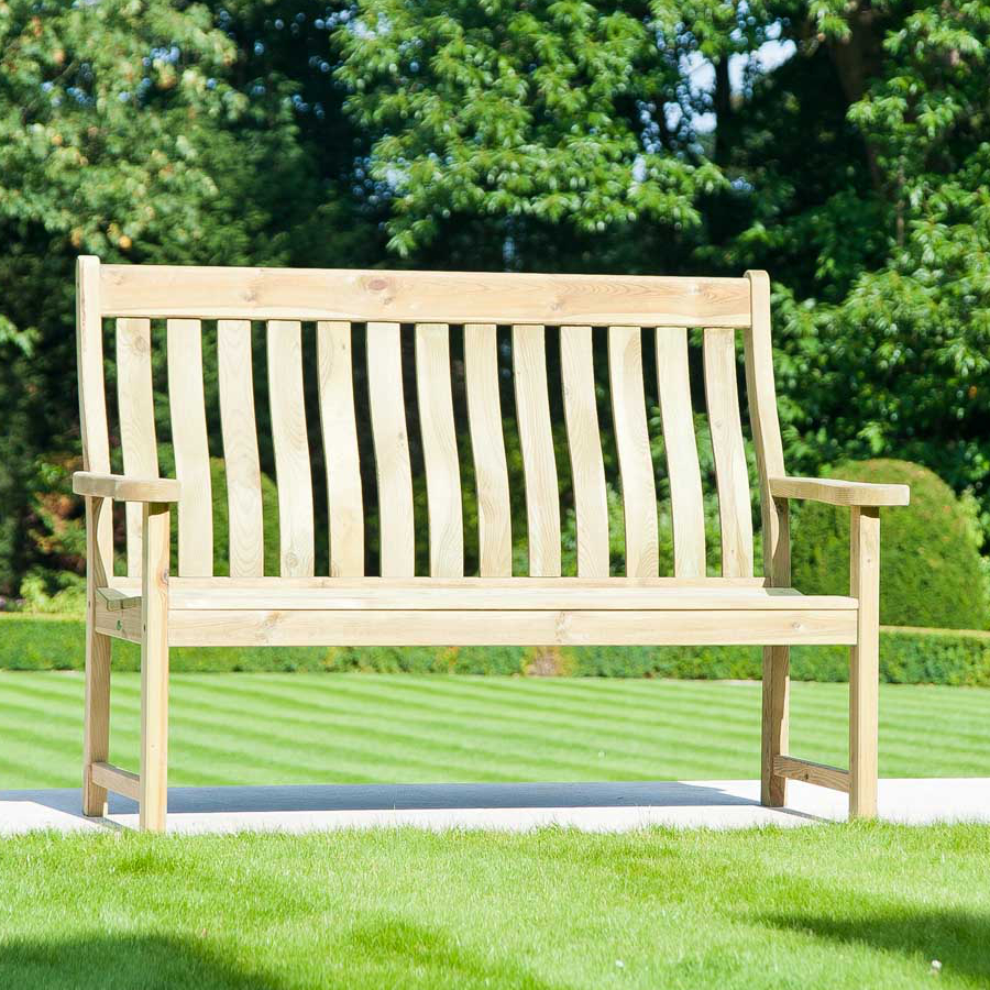 image of pine farmers 5ft fsc garden bench from alexander rose