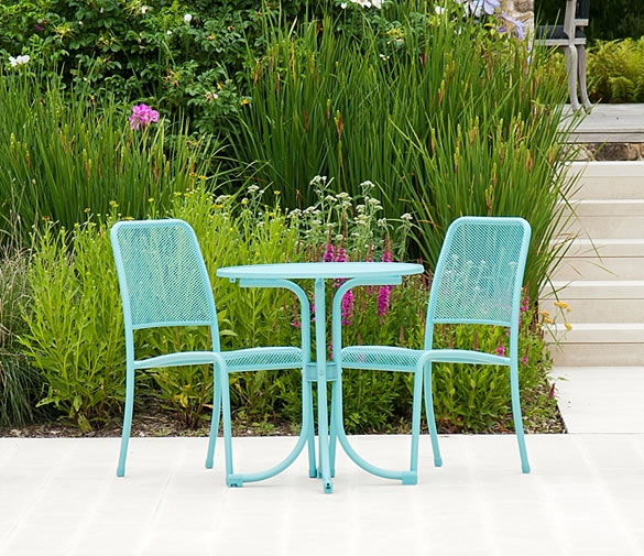 portofino garden bistro set in aqua 192 6 garden4less uk shop